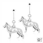 White Shepherd Earrings, White Shepherd Earring