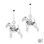 Wire Fox Terrier Earrings, Wire Fox Terrier Earring