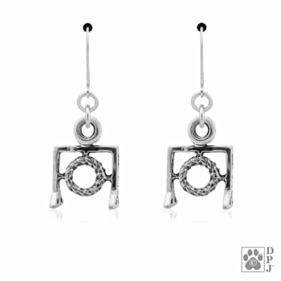 Sterling Silver Agility Tire Earrings