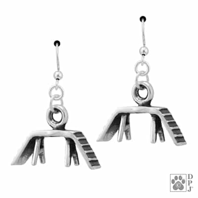Sterling Silver Agility Dog Walk Earrings