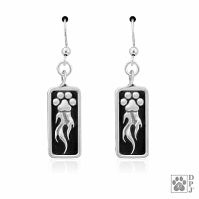 Sterling Silver Speed Paws Earrings