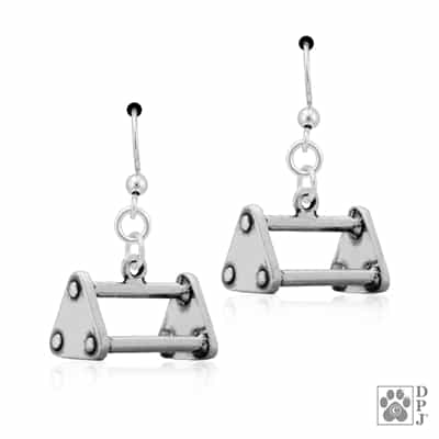 Sterling Silver Triangle Utility Article Earrings