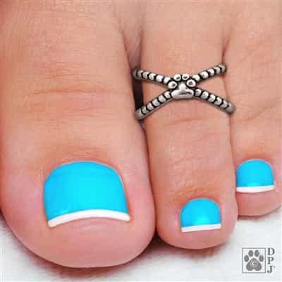 Paw print toe ring