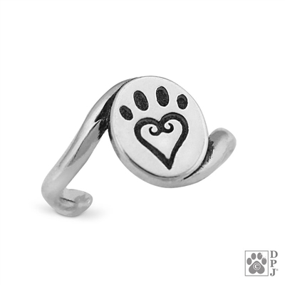 Paw Print Toe Rings for woman