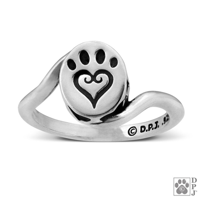 Sterling Silver Etched In My Heart Ring
