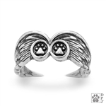 Sterling Silver Pet Memorial Rings, Pet Angel Wing Gift