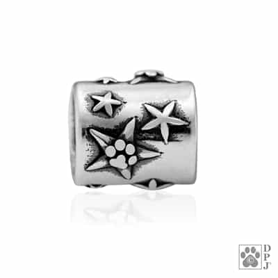 Sterling Silver Super Star Pawer Bead