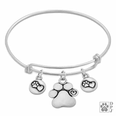 Sterling Silver Close To My Heart Charm Bracelet