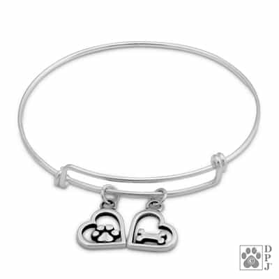 Sterling Silver Adjustable It Must Be Love Bracelet