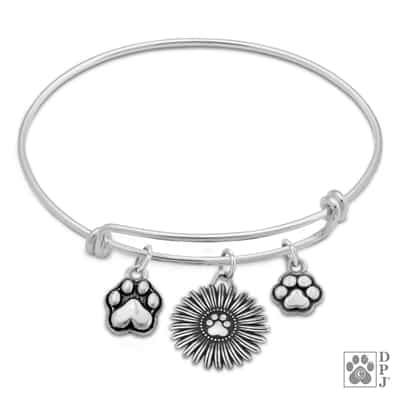 Sterling Silver Pitter Patter Paws Charm Bracelet