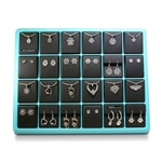 24 Piece Teal Display w/Inserts and Pendant Locks