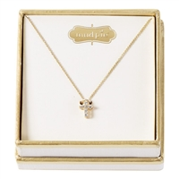 mud pie pave cross necklace gold plated cz baby