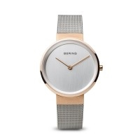 Bering classic ladies rose gold and silver watch