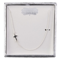 mud pie sterling silver baby cross necklace