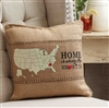 Mud Pie Home is where the heart is favorite state pillow wrap