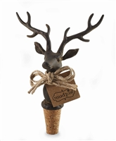 Mud Pie Deer Bottle Stopper