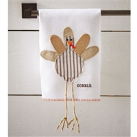 mud pie turkey ticking linen hand towel