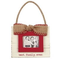 Mud Pie Best Family Ever Ornament Frame