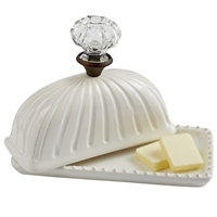 Mud Pie Ceramic Door Knob Butter Dish