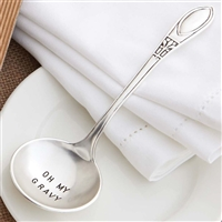 Mud Pie Circa pewter finish gravy ladle oh my gravy