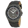 Men's Citizen Eco-Drive Black Dial Leather Strap Watch