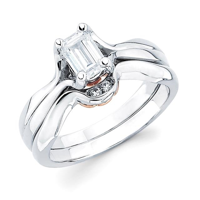 emerald cut solitaire - Emerald Cut Wedding Ring