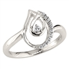 Double teardrop diamond ring