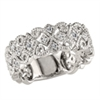 Vintage white gold & diamond band