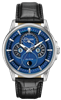 men's citizen calendrier eco-drive black strap blue dial watch BU0050-02L