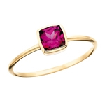 10k yellow gold rhodolite garnet ring