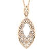 14k rose gold vintage diamond necklace
