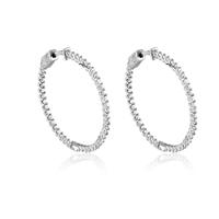 Inside Out CZ Hoop Earrings