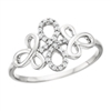 10k white gold diamond infinity ring