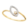 10k yellow gold petite diamond ring