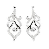 Diva Diamonds sterling silver & diamond earrings