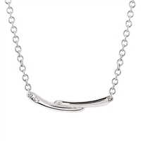 Diva Diamonds sterling silver & diamond bar necklace