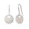 diva diamonds sterling silver hammered disc diamond earrings