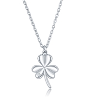 sterling silver diamond three leaf clover