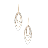 Frederic Duclos sterling silver & rose gold plated Barbara Earrings