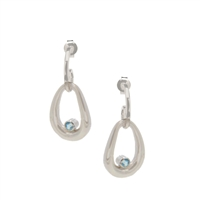 Frederic Duclos sterling silver & blue topaz Trixie earrings