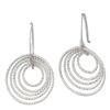 Frederic Duclos sterling silver 3d circle earrings