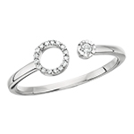 10k white gold diamond circle wrap ring
