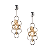 Frederic Duclos sterling silver & yellow gold plated Amelia earrings