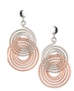 Frederic Duclos sterling silver & rose gold plated Elsa earrings
