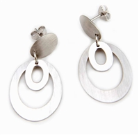 Frederic Duclos Double Oval Drop Earrings