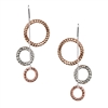 Frederic Duclos sterling silver & rose gold plated zig zag earrings