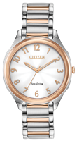 ladies citizen eco drive two tone pink gold drive watch