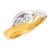 2Us 2 Stone 2 Tone Diamond Ring