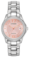 ladies citizen eco-drive silhouette crystal watch
