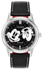 citizen eco-drive Mickey Mouse black leather strap watch